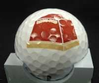 Workpiece Carrier with pad printed golf ball